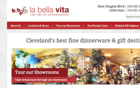 La Bella Vita Website
