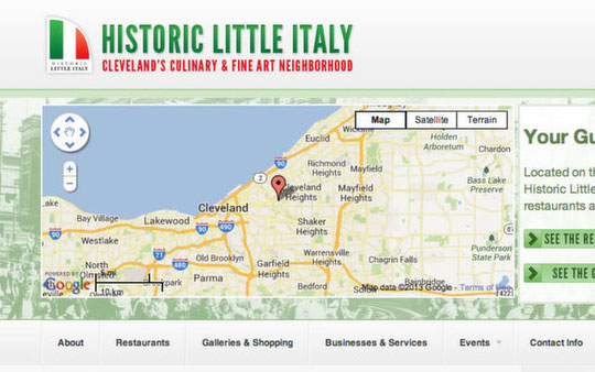 Little Italy Cleveland Website