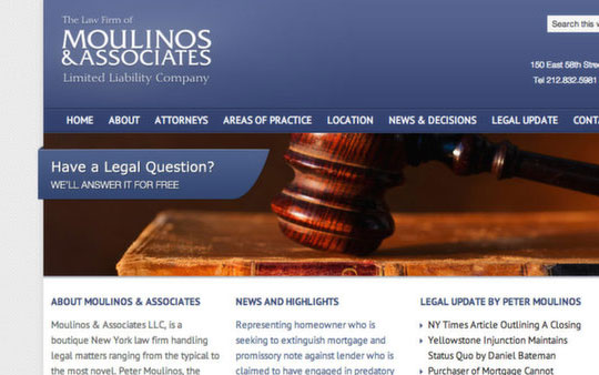 Moulinos and Associates Website