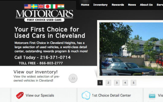 Motorcars First Choice Used Cars Website